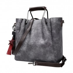 Sheepskin shoulder hand bag